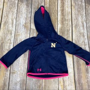 Toddler UA Girls Navy Hoodie, Sz 18 months